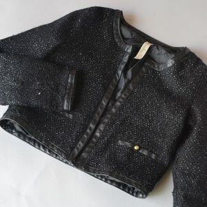 Girls Black Chanel Style Fancy Jacket